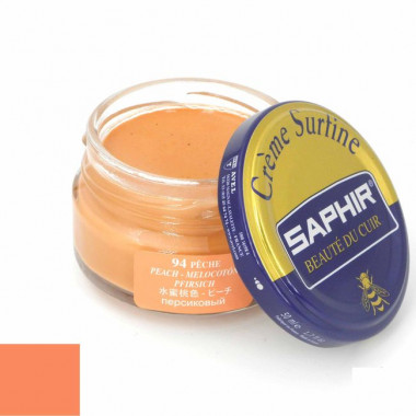 Crème Surfine Saphir - Cirage Pêche