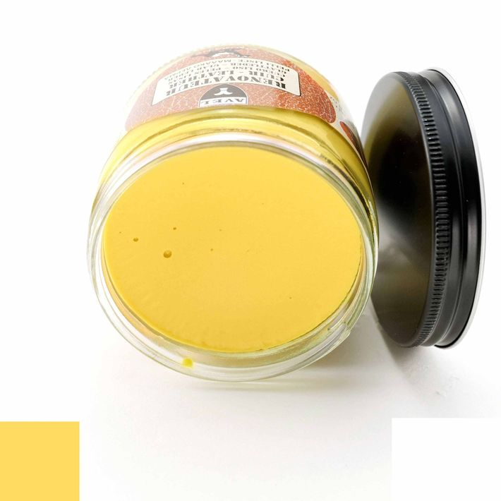 Cirage r novateur avel jaune paille pour cuir for Teinture pour canape cuir