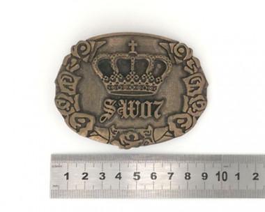 Boucle de ceinture - Couronne Bronze