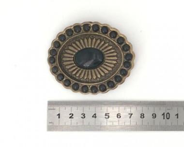 Boucle de ceinture - Perle Noire