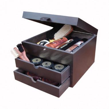 coffret cube cirage bois famaco cirages compagnie. Black Bedroom Furniture Sets. Home Design Ideas