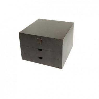 Coffret Cube Cirage Bois Famaco