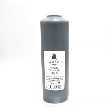 Crème Délicate Noire Famaco, lait d'entretien pour cuir 500 ml
