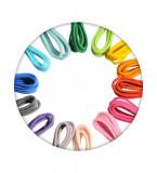 Lacets de couleur pour chaussures : fins, plats, ronds épais
