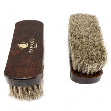 Brosse à reluire Luxe 18 cm Famaco poils blancs