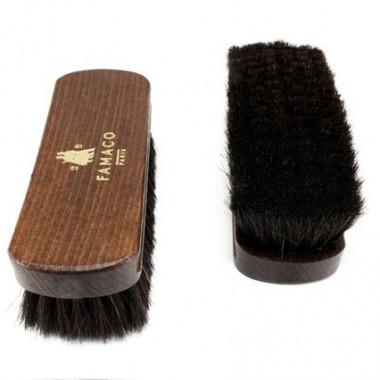 Brosse à reluire Luxe 18 cm Famaco poils noirs