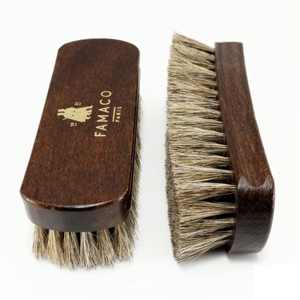 24b99555140 Brosse à reluire Luxe 14 cm Famaco poils blancs
