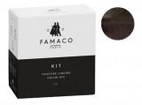 Kit de teinture Anthracite metallisé pour cuir Famaco