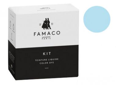 Kit de teinture Bleu Ciel pour cuir Famaco