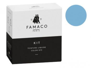 Kit de teinture Bleu Jean pour cuir Famaco
