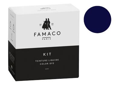 Kit de teinture bleu marine pour cuir Famaco