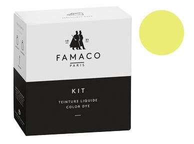 Kit de teinture Jaune Poussin pour cuir Famaco