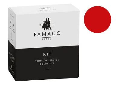 Kit de teinture Rouge Vif pour cuir Famaco