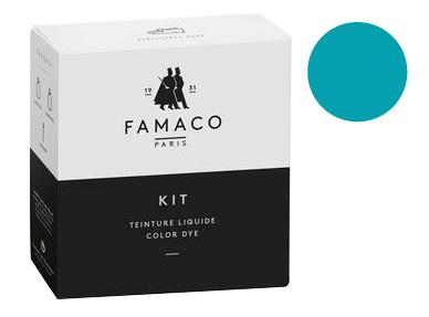 Kit de teinture Turquoise pour cuir Famaco