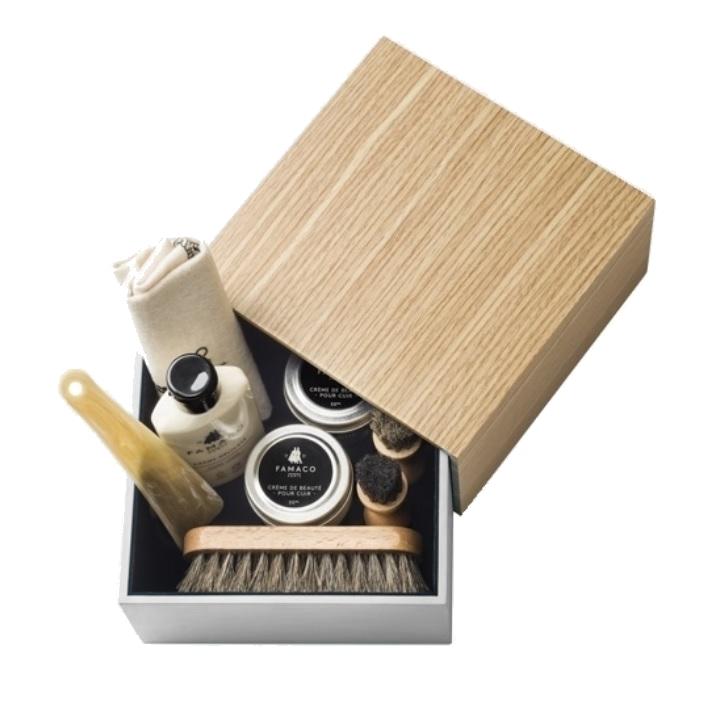 e470398c26e Coffret cirage design bois et blanc Famaco