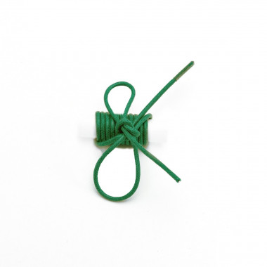 Lacets ronds fins cirés Vert Foncé
