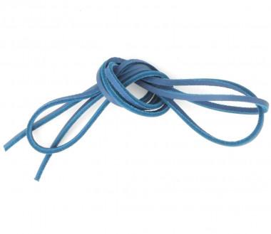 Lacet cuir bateau - Bleu