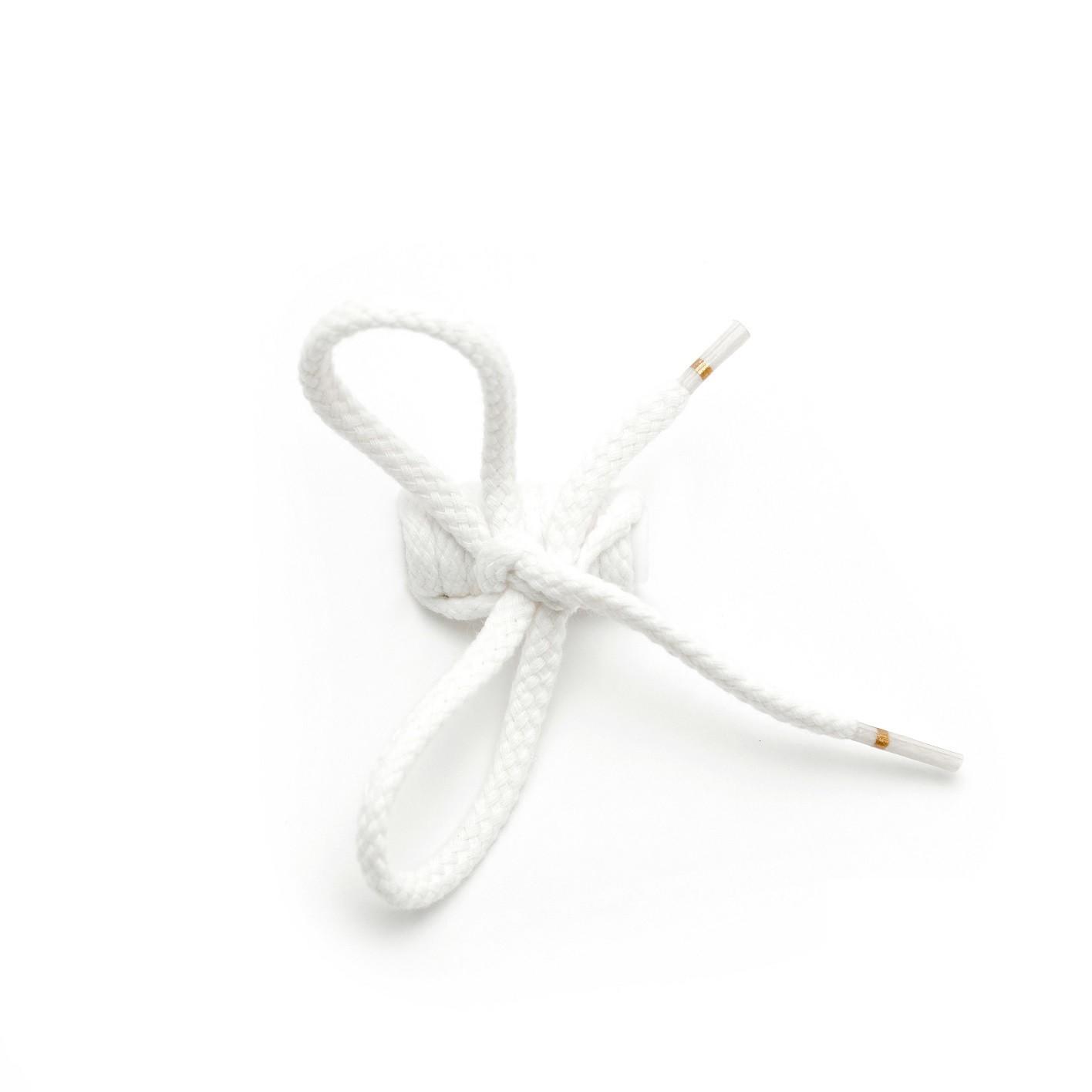 Lacets pour chaussures cordelets blancs