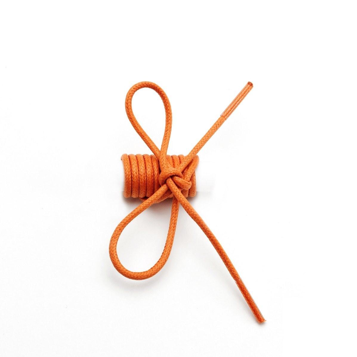 Lacets ronds fins cirés Orange