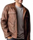 Cirage sur veste en cuir